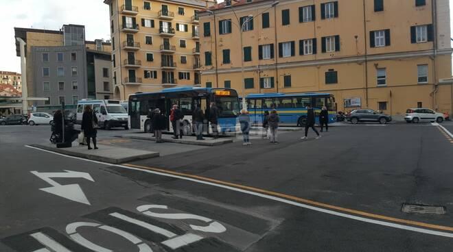 Imperia, al via nuovo terminal degli autobus in largo Piana