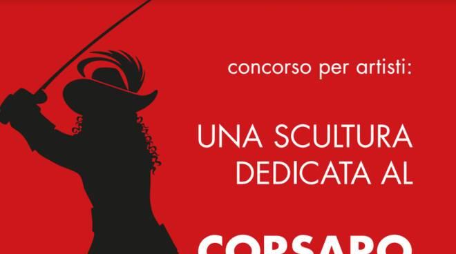 Una scultura dedicata al Corsaro Nero