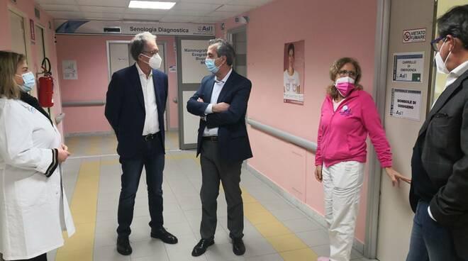 """Visita di Alberto Biancheri all'ospedale """"Borea"""""""
