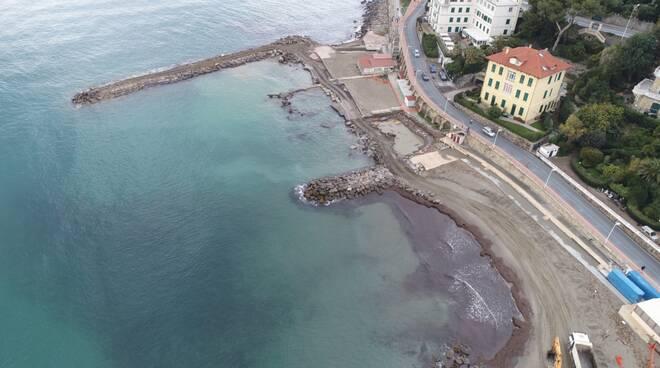 sistemazione scogliera Marina di Porto Maurizio