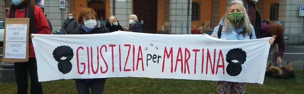 Imperia, presidio in piazza Dante per Martina Rossi