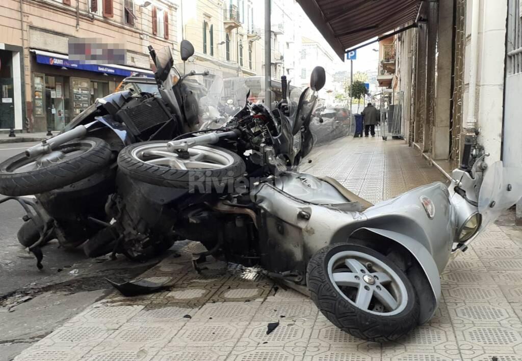Moto incidente a Sanremo