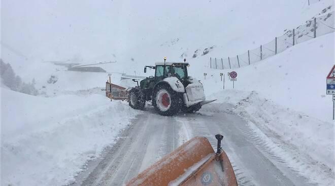 """Neve su statale 21 """"del Colle della Maddalena"""""""