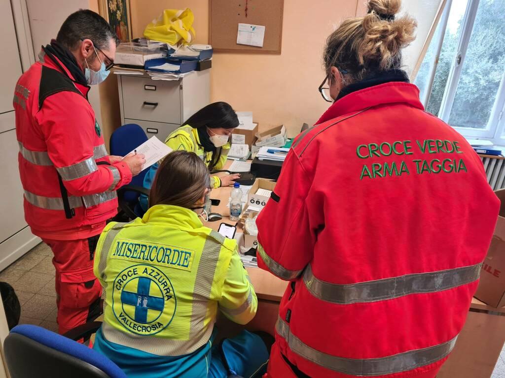 Croce Azzurra Misericordia di Vallecrosia e Croce Verde Arma Taggia