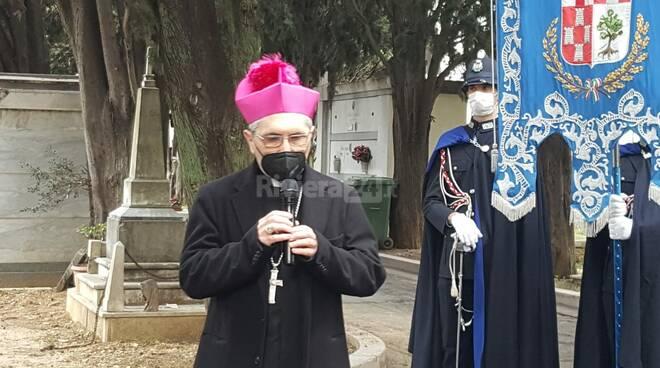 Imperia, vittime del Covid, la cerimonia al cimitero di Oneglia