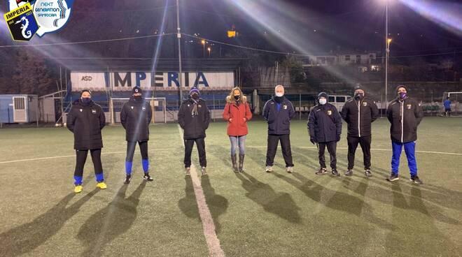 Tecnici della Sampdoria all'Imperia
