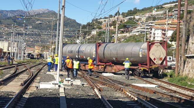 spostamento treno deragliato ventimiglia