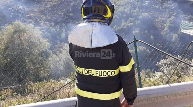 Incendio Poggio Sanremo