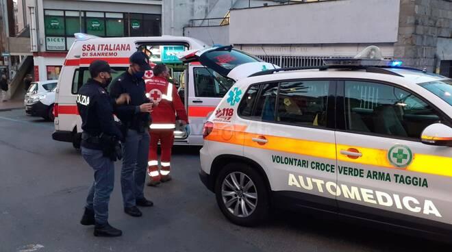 riviera24 - 118 soccorsi polizia piazza eroi sanremo