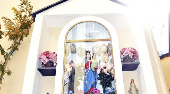 Sanremo, la madonnina dei Costiglioli riportata al suo splendore originale