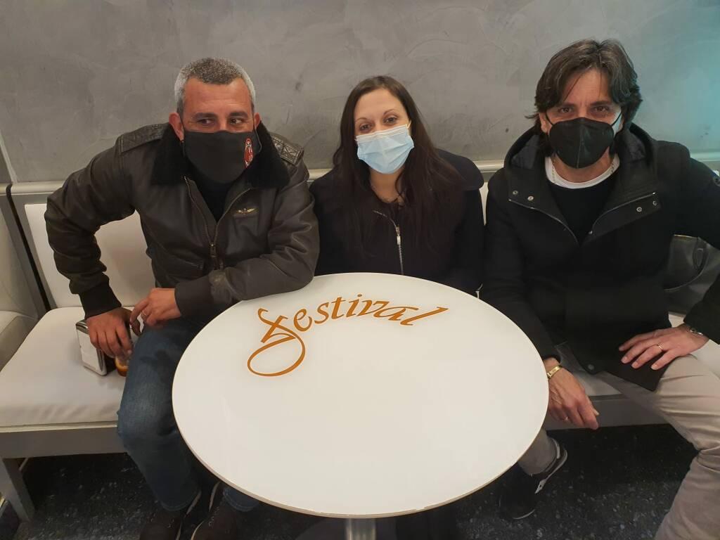 Veronica Russo e titolari di bar e ristoranti di Sanremo