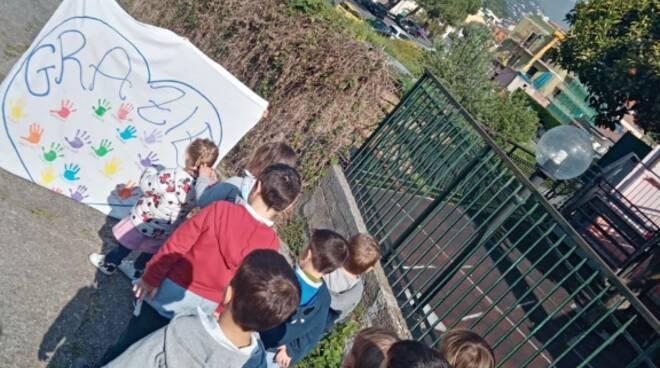 Area gioco esterna per la scuola dell'infanzia I. Lanterno