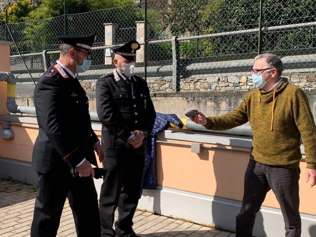 Associazione aMarti, carabinieri e polizia a ospedale di Imperia