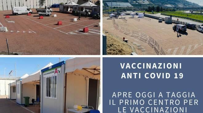 Centro per le vaccinazioni in auto
