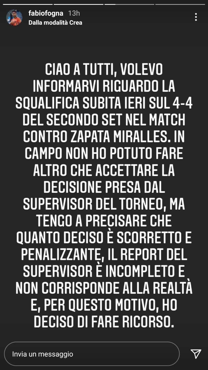 Fabio Fognini ricorso