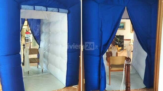 tenda degli abbracci casa serena