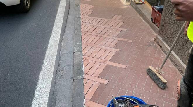 pavimentazione via amendola