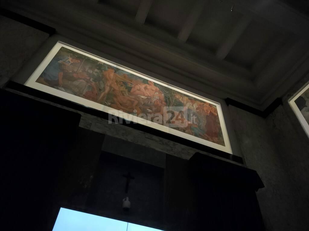 sala consiliare comune imperia affreschi illuminati