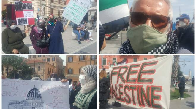 manifestazione palestina collage