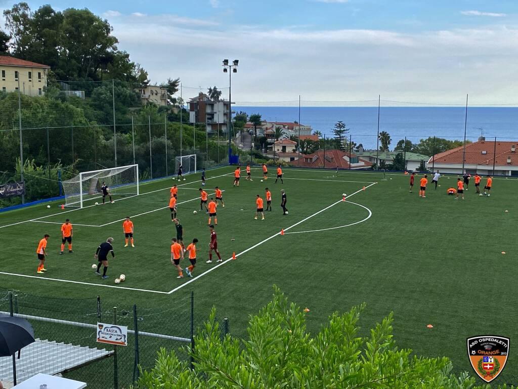 Ospedaletti calcio allenamento giovanili