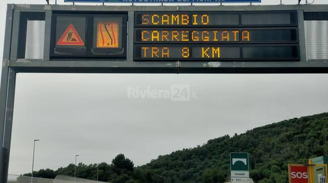 Riviera24- autostrada cantieri generica