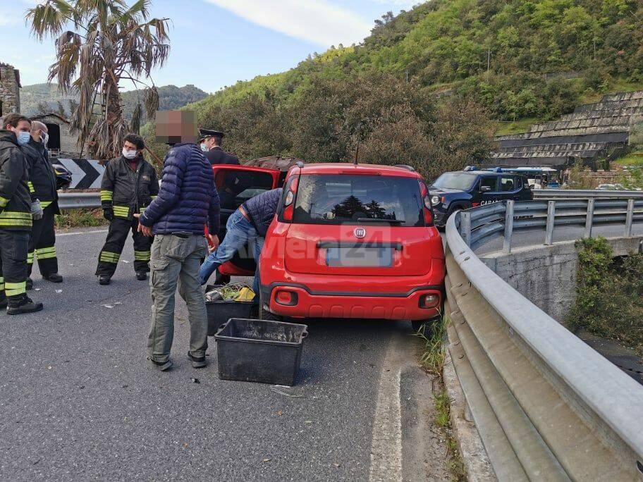 riviera24 - frontale isolabona incidente