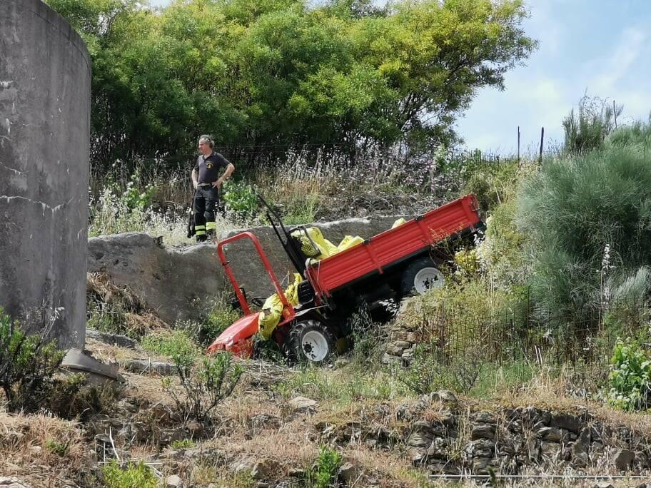 riviera24 - trattore incidente
