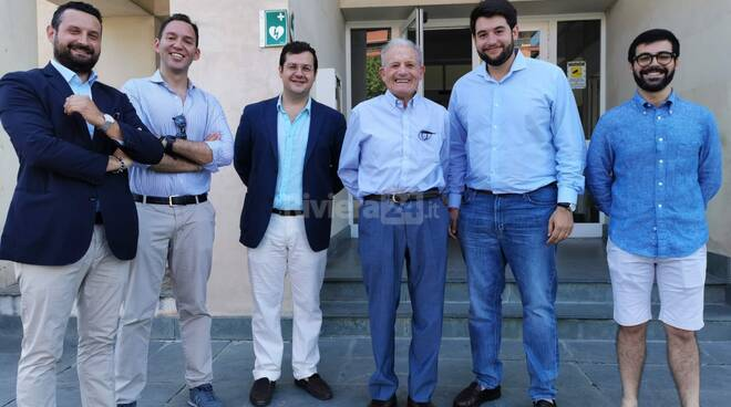 Carlo Angrisano visita ventimiglia