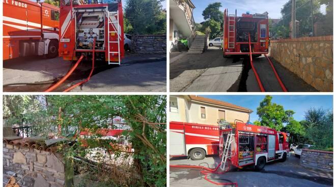 collage vigili del fuoco artallo