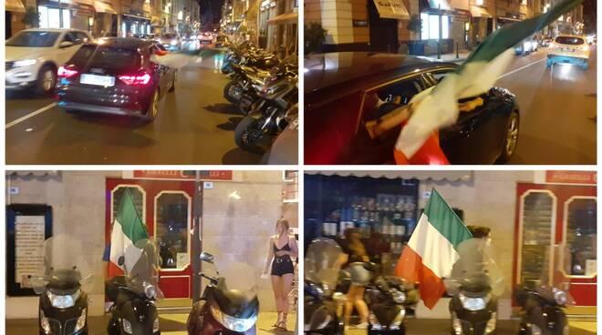 festeggiamenti italia austria collage