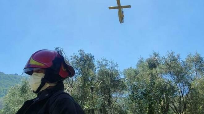 riviera24 - elicottero elisoccorso vigili del fuoco