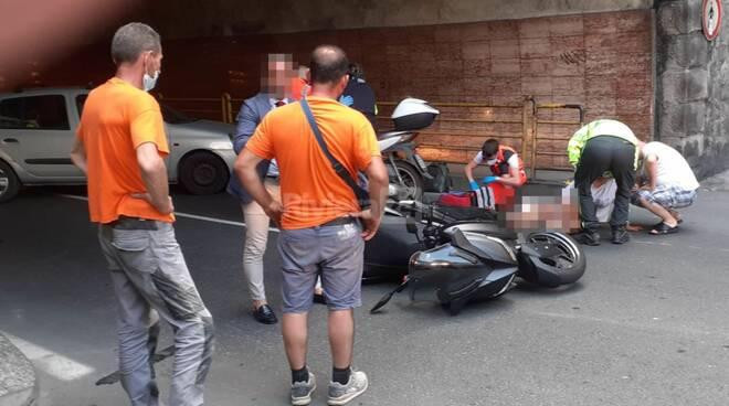 riviera24 - incidente galleria francia soccorsi