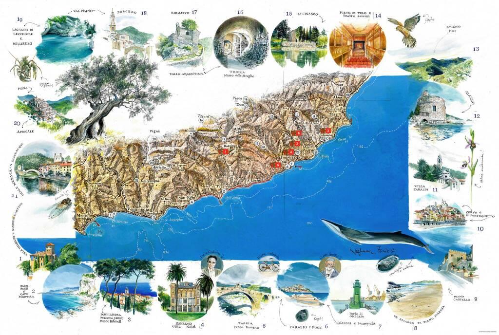 riviera24 - mete liguria cartina