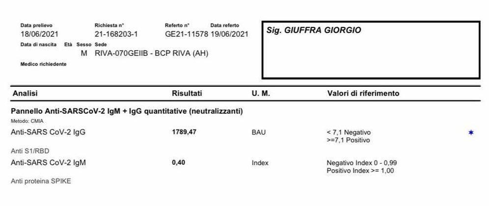 riviera24 - test sierologico giuffra