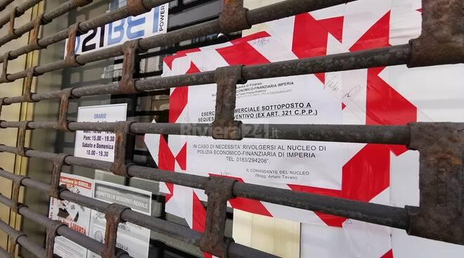 Sala scommesse sequestro Bordighera
