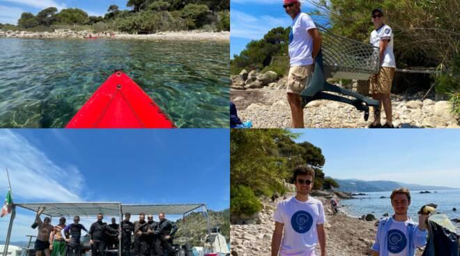 Ventimiglia pulizia spiagge Mortola