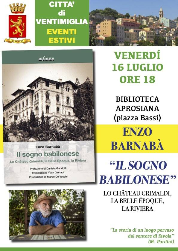 """""""Il Sogno babilonese"""" di Enzo Barnabà"""