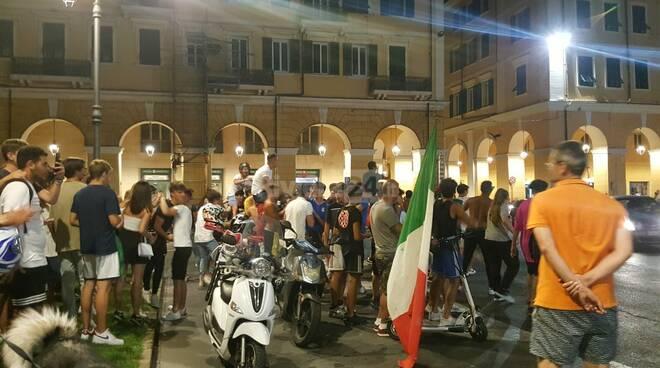 Italia europei tifosi in delirio a Sanremo e Imperia