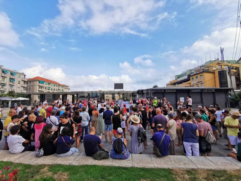 No green pass protesta Sanremo