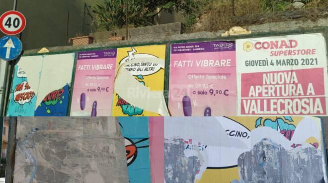 poster strappati Ventimiglia
