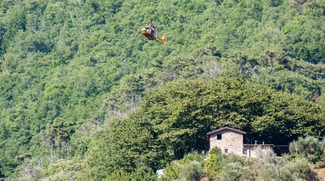 riviera24 - Ceriana in volo l'elisoccorso