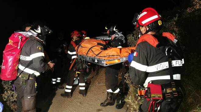 riviera24 - soccorsi notturna 118 vigili fuoco