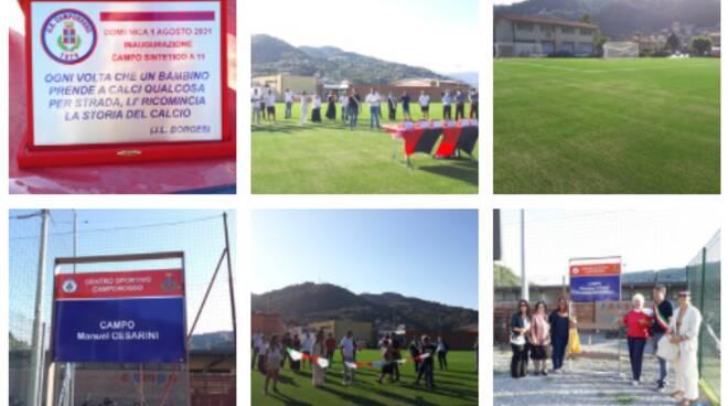 Camporosso, inaugurazione del campo a 11