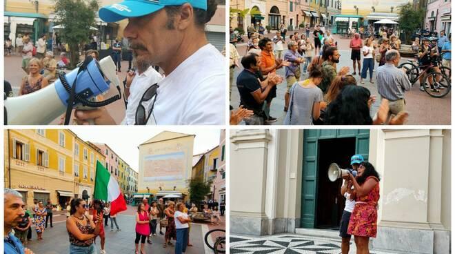 protesta no green pass imperia collage