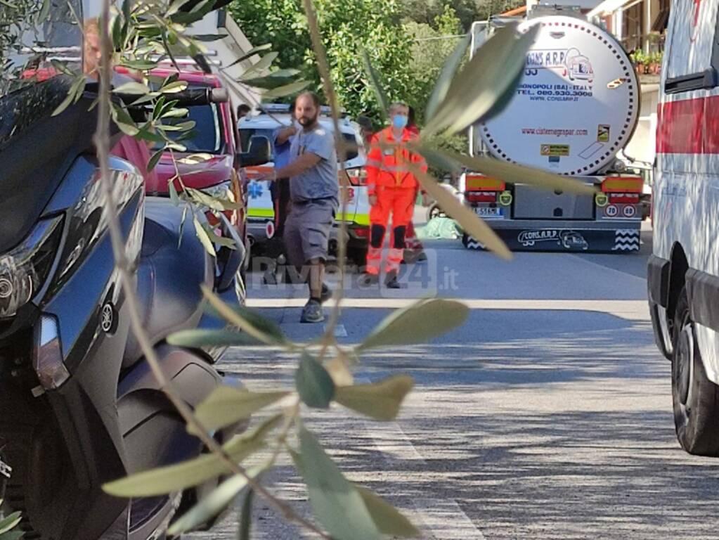 Riviera 24 - incidente mortale Chiusavecchia doccorsi