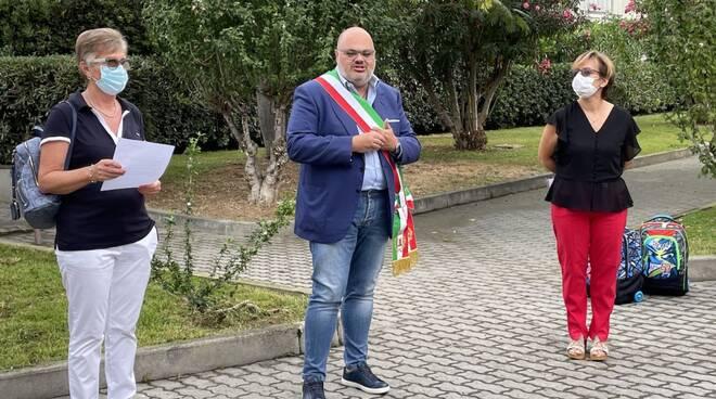 Giorgio Giuffra primo giorno scuola