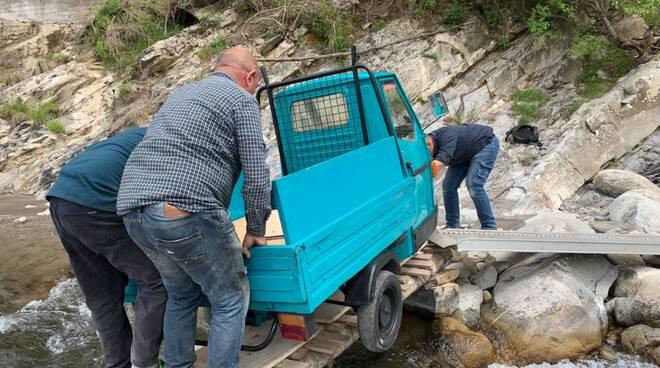 riviera24 - ponte meosu crollato guado