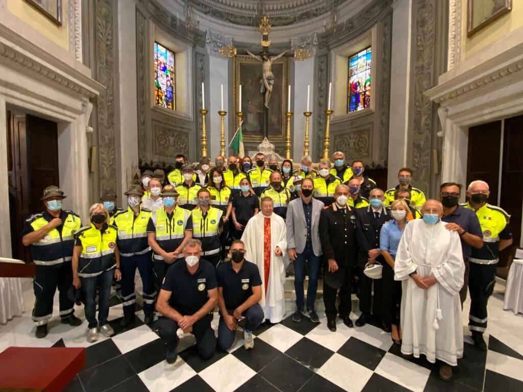 Riviera24-Protezione Civile riceve benedizione San Pio