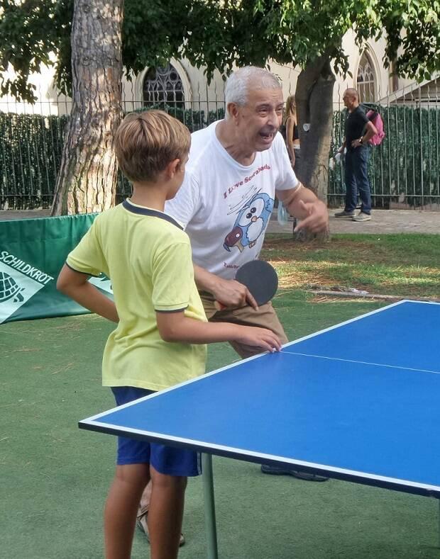 Tennistavolo Regina e  Ethel Moreno