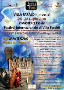 V Masterclass del Festival Internazionale di VILLA FARALDI Sara Terzano ARPA e Musica da Camera